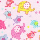 Colourful Elephants 2671 Brushed Cotton