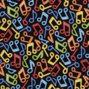Gail C4851 Musical Notes Bright