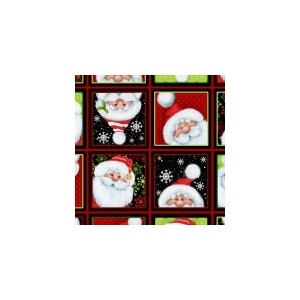 Jolly Ole St. Nick Squares panel 4790 401