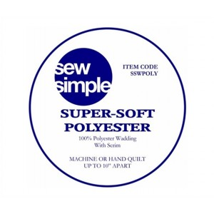 Sew Simple Needle Punched Polyester 124 inches wide