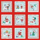 Jolly Santa Labels  1955/1