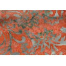 Batik Stamp BK123/E Orange/Red