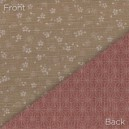 Sevenberry Double Sided Fabric 88235 D1-1 Taupe/Dk Pink